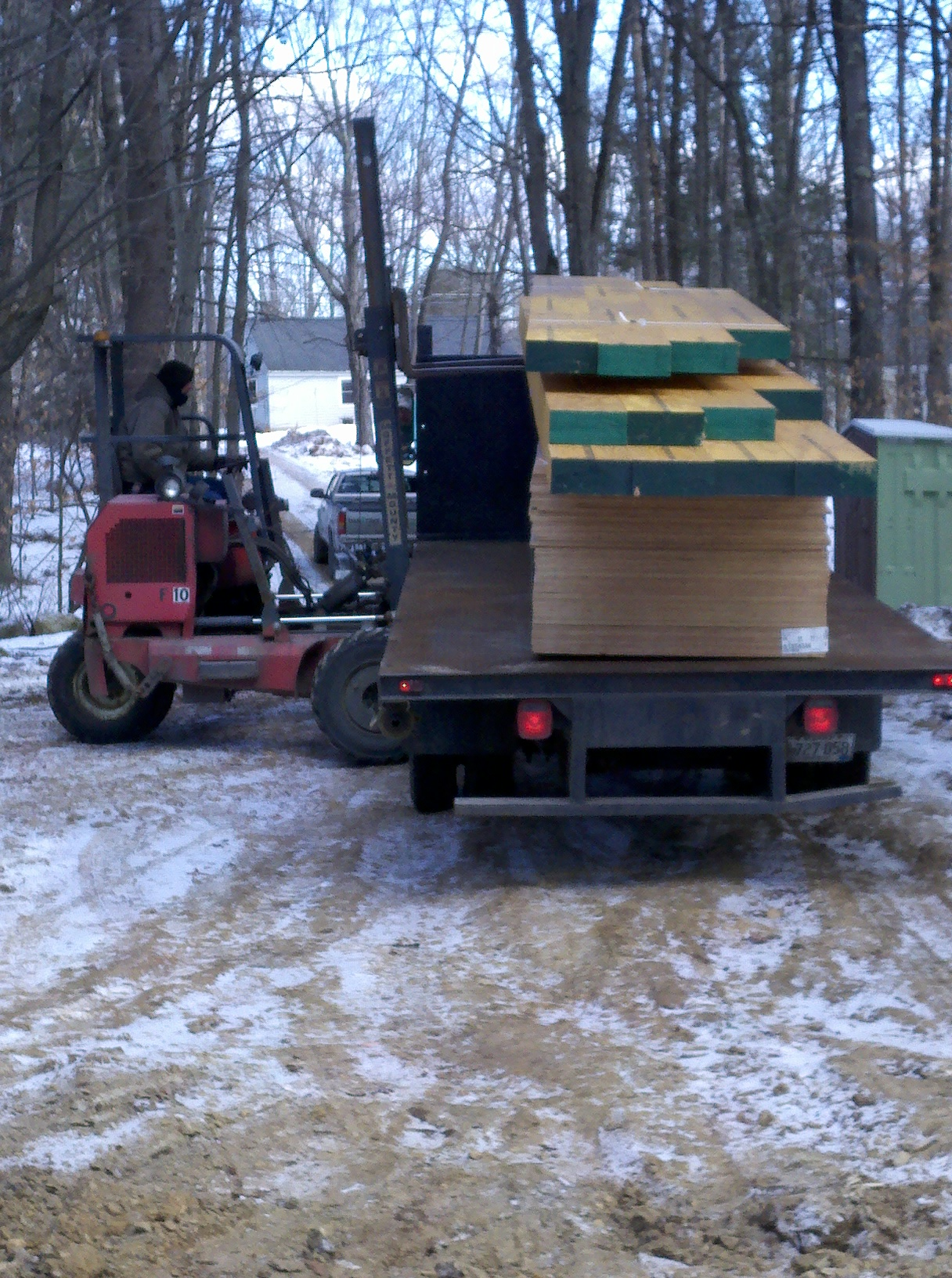 Lumber delivery - Framing ready to begin